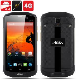 """AGM 5S, Smartphone Android 4.4 Rigide 4G, IP67 , Ecran 5"""" 1280x720, MSM8926 1.2GHz Quad Core CPU (Argent) CA3092-20"""