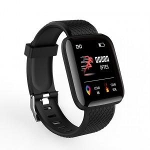 SmartWatch étanche Surveillance de la pression artérielle de la fréquence cardiaque Smart Band FitnessTracker IP67 Noir C44891514-20