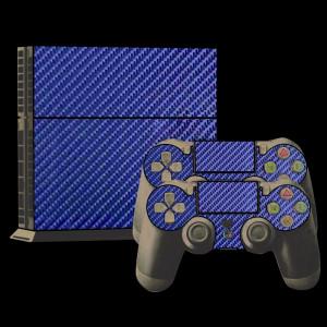 Autocollants en autocollant en fibre de carbone pour console de jeux PS4 (jaune) SA022Y-20