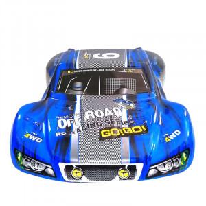 Corps de surface en plastique PVC de voiture Remo M0280 pour 1/10 HQ 727 4X4 Traxxas SCX10 Slash Case Télécommande Jouets Pièces de rechange 4.0 bleu C0ZJTN4767-20