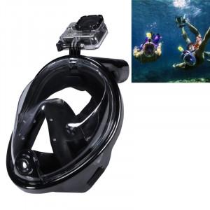 Équipement de plongée sous-marine Complet Dry Diving Mask Lunettes de natation pour GoPro HERO4 / 3 + / 3/2/1, M Size (Black) S0459B-20