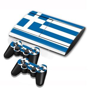 Autocollants en autocollants pour drapeaux grecs pour console de jeux PS3 SA002Z-20
