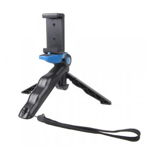 Support portable à main / mini trépied Steadicam Curve avec clip droit pour GoPro HERO 4/3 / 3+ / SJ4000 / SJ5000 / SJ6000 Sports DV / Appareil photo numérique / iPhone, Galaxy et autres téléphones mobiles (bleu) SS499L9-20