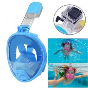 Équipement de plongée pour enfants Full Face Design Masque de plongée pour GoPro HERO4 / 3 + / 3/2/1 (Bleu) S0321L-20