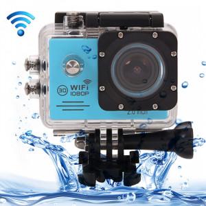 SJ7000 Full HD 1080P écran LCD 2,0 pouces Novatek 96655 Caméra caméscope sport WiFi avec étui étanche, objectif grand angle HD de 170 degrés, 30m imperméable à l'eau (bleu) SS123L5-20