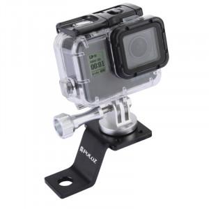 PULUZ Support de support fixe à l'alliage d'aluminium avec adaptateur et vis à trépied pour GoPro HERO5 Session / 5/4 Session / 4/3 + / 3/2/1, Autres appareils photo sportifs (Argent) SP114S7-20