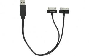 Novodio Câble USB avec double connecteur dock pour iPod / iPhone AMPNVO0253-20