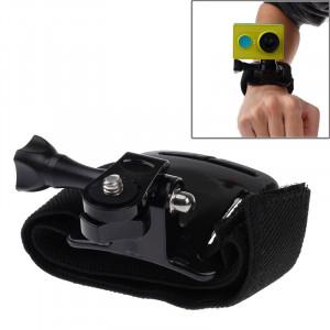 Ceinture de ceinture de velcro / sangle de poignet + Monture de connecteur pour caméra sport Xiaomi Xiaoyi (noir) SC03602-20