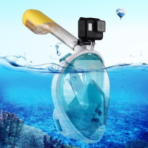 PULUZ 220mm Tube Water Sports Équipement de plongée Masque de plongée à sec complet pour GoPro HERO5 / 4/3 + / 3/2/1, taille S / M (vert) SP215G3-20