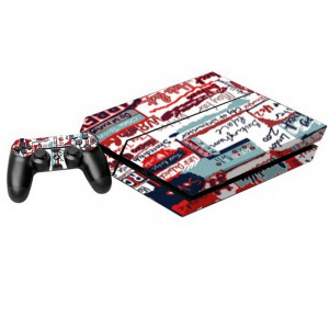 Signature Pattern Decal Stickers pour PS4 Game Console SS016M-20