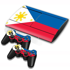 Philippine Flag Pattern Decal Stickers pour PS3 Game Console SP002X-20