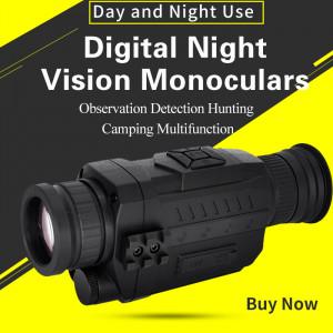 Monoculaires infrarouges numériques de vision nocturne Full Dark 5X40 200M Chasse monoculaire Optiques de vision nocturne Camouflage C05S735676-20