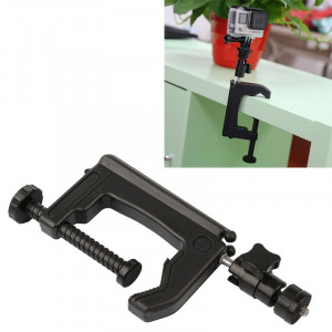 Support de table pour fixation de table + Adaptateur pour trépied pour GoPro HERO4 / 3+ / 3/2/1, Taille de la pince: 1 6 cm SS60118-20