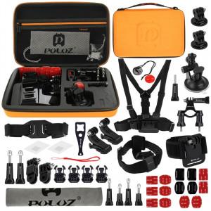PULUZ 45 en 1 Accessoires Ultimate Combo Kit avec étui Orange EVA pour GoPro HERO4 Session /4 /3+ /3 /2 /1 SPKT286-20