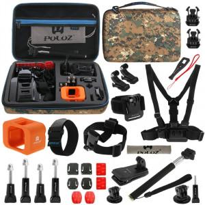 PULUZ 29 en 1 Accessoires Kit combiné avec camouflage EVA Case pour GoPro HERO4 Session SPKT336-20