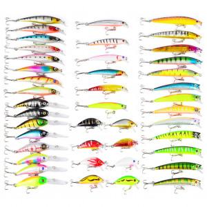 43 Pcs Coloré Leurre De Pêche S'attaquer Artificiel Minnow Manivelle Appâts Imitation Forme De Poisson Leurre avec Fishhook C409341624-20