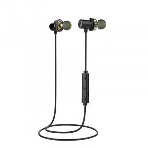 AWEI X650BL Casque sans fil Bluetooth Dual Dynamic Earphones Bandeau serre-tête Casque IPX5 Étanche BT4.1 Noir C5509395-20