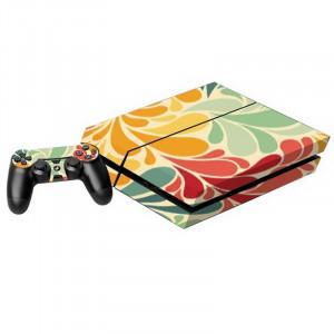 Autocollants décoratifs en forme de feuilles colorées pour console de jeux PS4 SA016J-20
