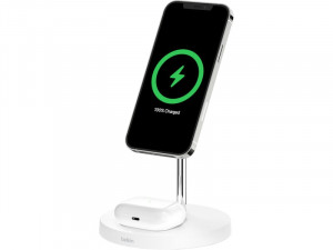 Belkin Boost Charge PRO Station de recharge 2 en 1 avec MagSafe Blanc AMPBLK0052-20
