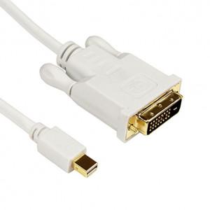 Mini DisplayPort vers DVI 24 + 1 Adaptateur de câble mâle, Longueur de câble: 1.8M (Blanc) SM0225-20