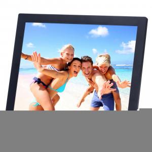 14 pouces HD écran LED cadre photo numérique avec support et télécommande, Allwinner, réveil / MP3 / MP4 / lecteur de film (noir) S1562B2-20