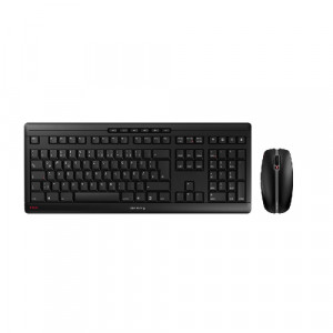 CHERRY STREAM DESKTOP Keyboard and mouse set wireless 2.4 GHz US with Euro symbol key switch: CHERRY SX black XH2343315N1756-20
