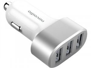 Novodio Multi Car Fast Charger Chargeur voiture iPhone USB 2 X 2,4A + 1 X 1,5A AMPNVO0318-20