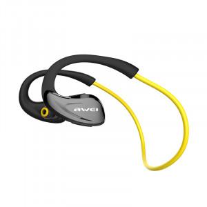 AWEI A880BL Sport Casque Sans Fil Bluetooth Écouteurs Casque pour Téléphones Courant In-Ear Écouteur Écouteur Jaune C4830918-20