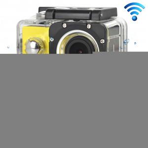 H16 1080P Caméra sport imperméable portable WiFi, écran 2,0 pouces, Generalplus 4248, 170 A + degrés Grand angle, carte TF de soutien (jaune) SH243Y1-20