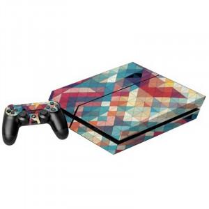 Autocollants colorés en autocollants en forme de prisme pour console de jeux PS4 SA016R-20