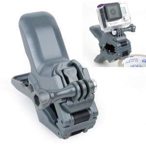 TMC Jaws Flex Clamp Mount avec boucle et vis pouce pour GoPro Hero 4 / 3+ / 3/2/1 (Gris) ST262H4-20