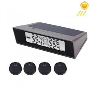 TPMS Car Auto Système universel de surveillance de la température de la pression des pneus USB Moniteur de puissance solaire Affichage LCD sans fil 4 Capteur externe Pression des pneus ST7851-20