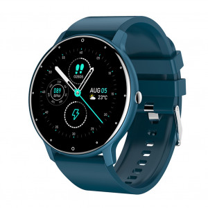 ZL02 Écran couleur Bracelet intelligent Surveillance de la santé de la fréquence cardiaque Montre de sport Bluetooth Bleu C8339ENAO5045-20