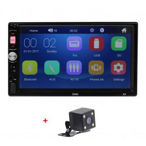 Lecteur MP5 stéréo de voiture 2Din 7 pouces Radio FM Bluetooth 4.0 USB AUX Vue arrière Entrée vidéo Volant Fonction d'apprentissage avec caméra C0OXCS13193-20