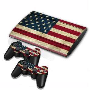 US Flag Pattern Decal Stickers pour PS3 Game Console SU002C-20