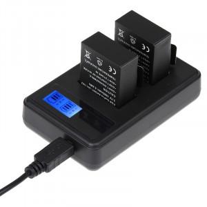 Chargeur de batterie double écran LCD pour GoPro HERO3 + / 3 (AHDBT-301, AHDBT-302), affiche la capacité de charge SC31412-20