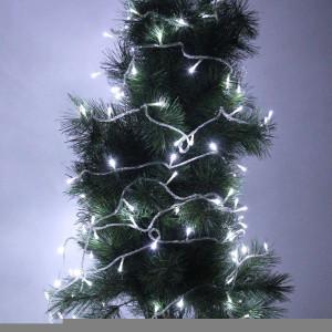 5m 50 LED lumière blanche batterie lumière décoration pour fête de noel S5364W0-20