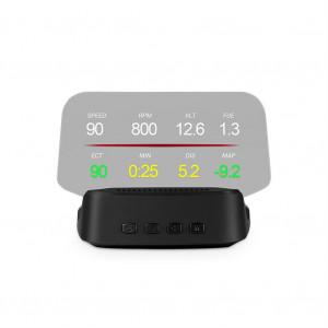 Projecteur universel de navigation GPS OBD portatif HUD avec affichage tête haute à chargement de voiture noir C8716CYLK6975-20