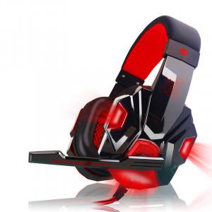 Casque avec micro et lumière LED pour téléphone portable PS4, rouge C75431983-20