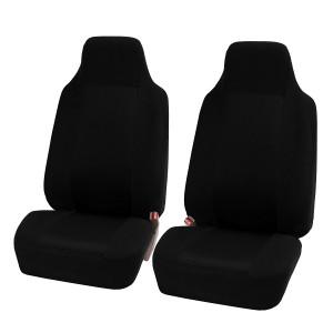 2pcs / set Coussin universel pour siège avant de voiture Noir C25435123-20