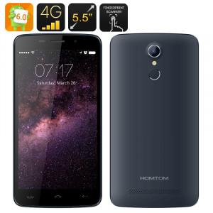 HOMTOM HT17 Android 6.0 Smartphone 4G, écran HD de 5,5 pouces, MTK6737 CPU Quad Core, Fingerprint Scanner (Bleu) CH0655-20