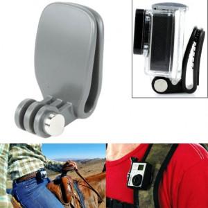 TMC Head Quickclip pour GoPro Hero4 / 3+ / 3/2/1 (Gris) ST352H0-20