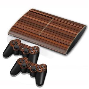 Autocollants pour autocollants en bois pour console de jeux PS3 SA001D-20