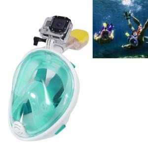 10 PCS Équipement de plongée sous-marine Complet Dry Diving Mask Lunettes de natation pour GoPro HERO4 / 3 + / 3/2/1, M Size (Light Green) S159LG1-20