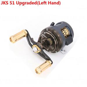 DEUKIO 11 + 1 roulements profil rond moulinet Baitcast moulinet moulage leurre léger pour la pêche à la truite de ruisseau main gauche / droite en option surclassement JKS 51 (main gauche) C0UPMN10567-20