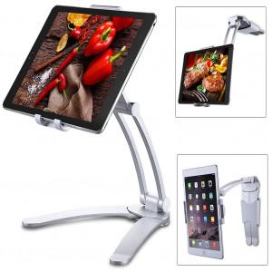 Support mural réglable pour tablette Tablet PC iPad pour cuisine Argent (pour 4-10,5 pouces) C1861408-20