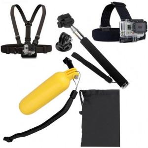 Adaptateur Monopied 5 po en 1 Monopied + Flotteur Bobber Stick portatif + Ceinture + Ceinture + Sac pour GoPro HERO4 / 3 + / 3/2/1 / SJ4000 SA24609-20