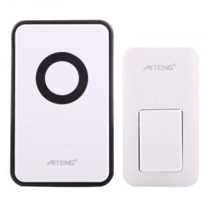 AITENG V018G Sonnette sans fil sans batterie sans vie, 1 récepteur + 1 transmetteur x, Distance du récepteur: 130 m, fiche US SA1170-20