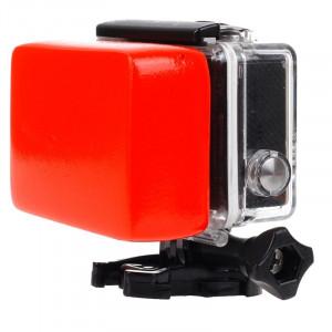 Éponge flottante à la porte dérobée avec autocollant 3M pour GoPro HERO4 / 3 + / 3/2/1 (Rouge) S-20