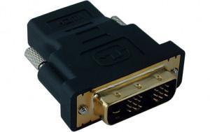 Adaptateur HDMI Femelle vers DVI-D 18+1 Mâle Connecteurs Plaqués or HDMMWY0001-20
